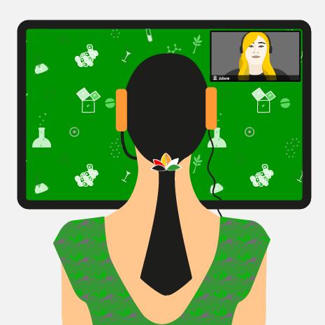 "Illustration ""Virtual Exchange"""